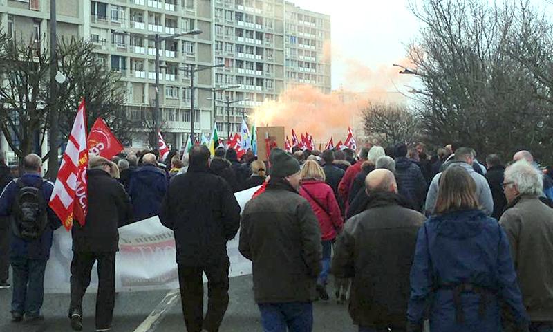 Manifestation contre la loi travail à Boulogne
